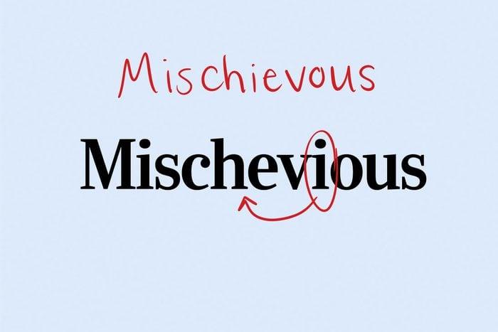 Misspelled word