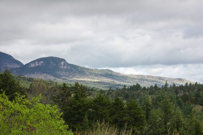 North Conway New Hampshire, in the White Mountains along the Kancamagus highway.