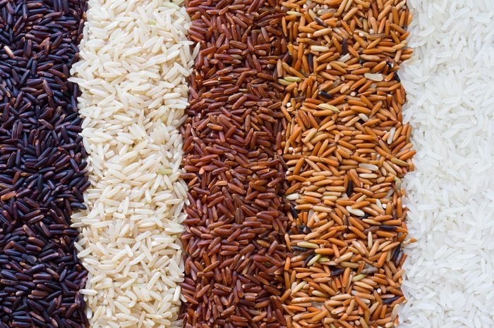 Organic rice, Mixed rice and texture for background