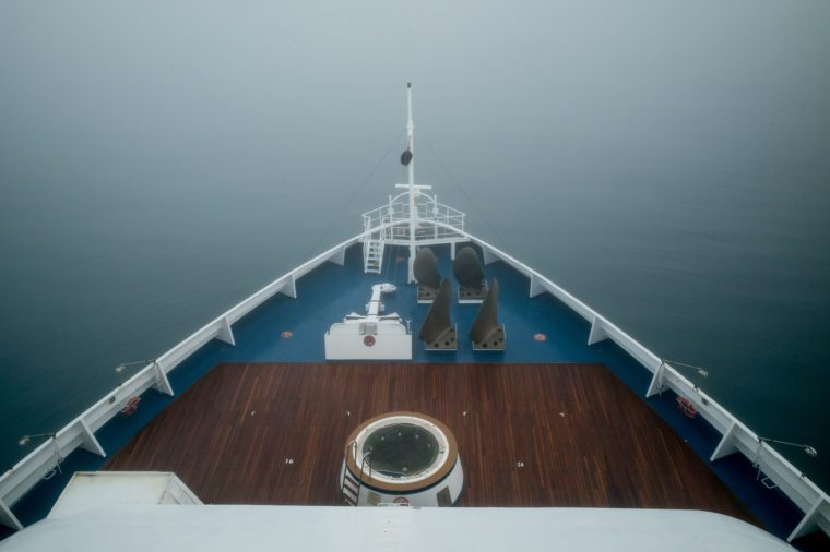 Ship bow fog
