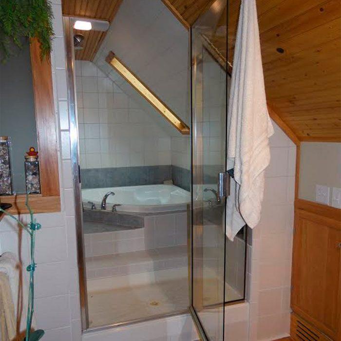 tub inside shower enclosure