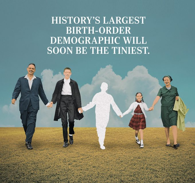 history's largest birth-order demographic will soon be the tiniest.