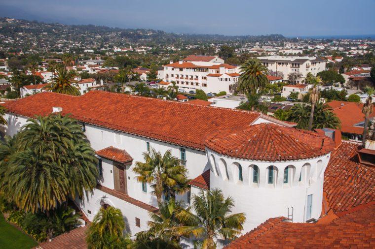 View from Santa Barbara city hall tower