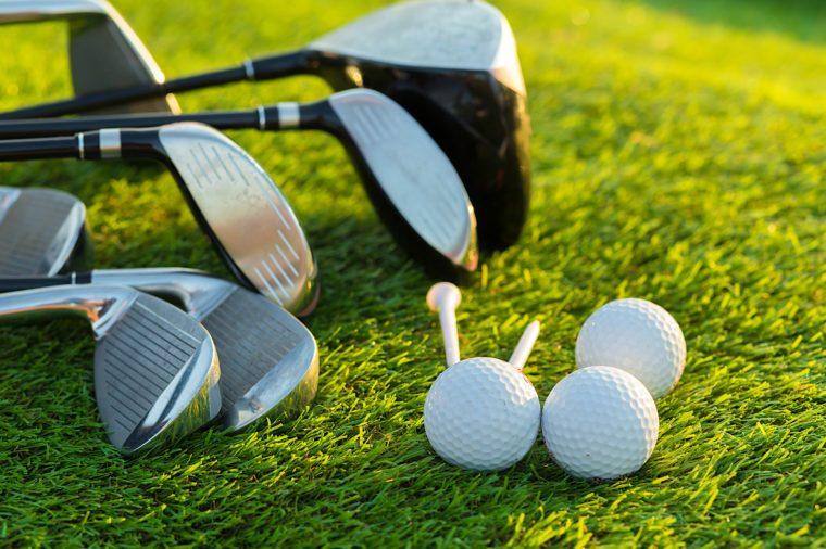 Golf ball and golf club