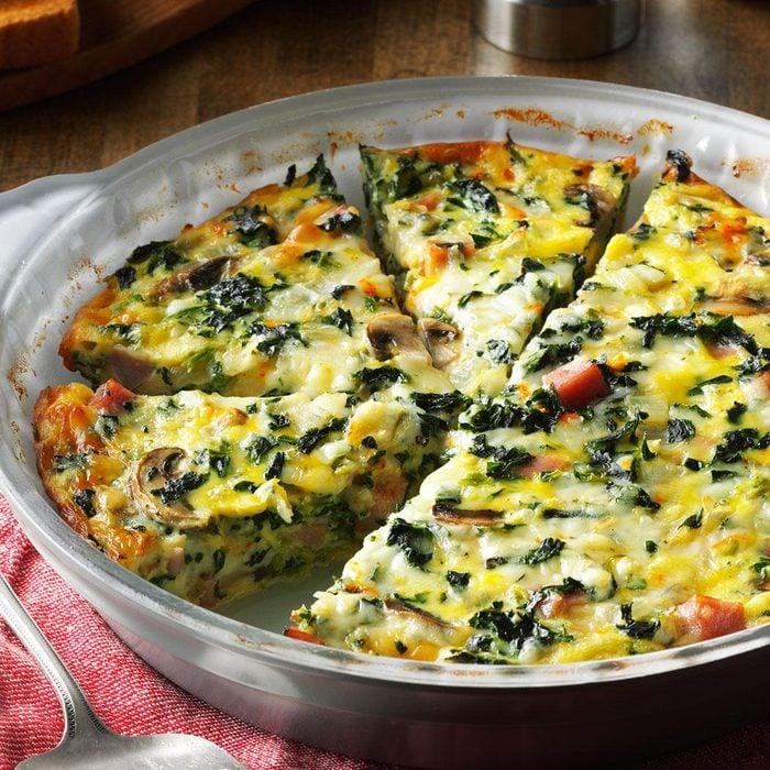 Wisconsin: Crustless Spinach Quiche