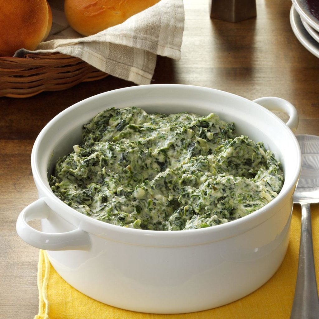 three cheese creamed spinach