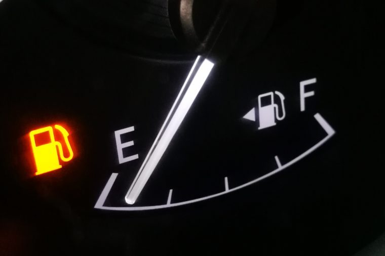 empty fuel gas tank.