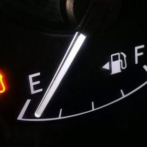 empty fuel gas tank.