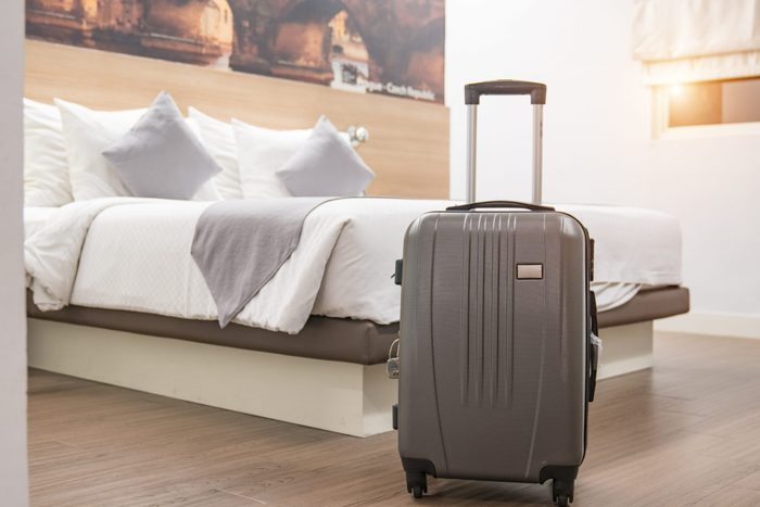 Luggage in the hotel room