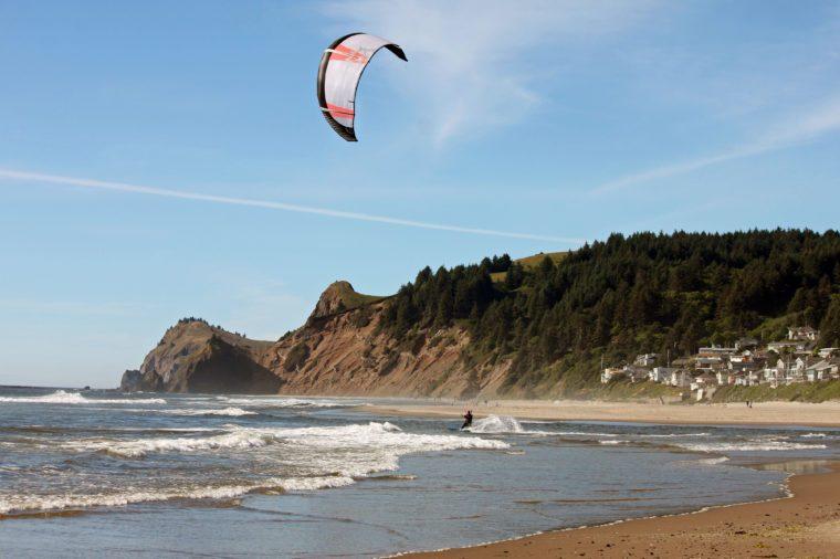 Kite Surfer in Lincoln City, Oregon