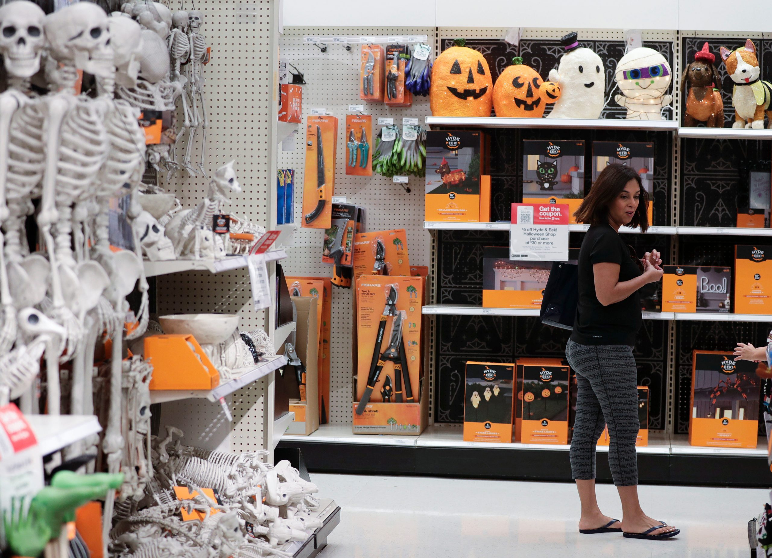 store with halloween decorations