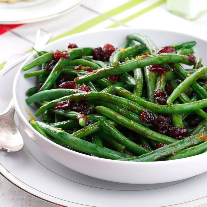 Pomegranate Glazed Green Beans