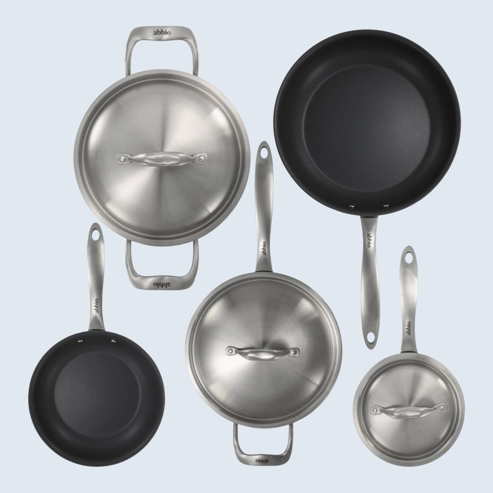 pots and pans abbio A complete starter kitchen essentials set at a bargain