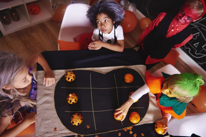 Kids spending time together while party game