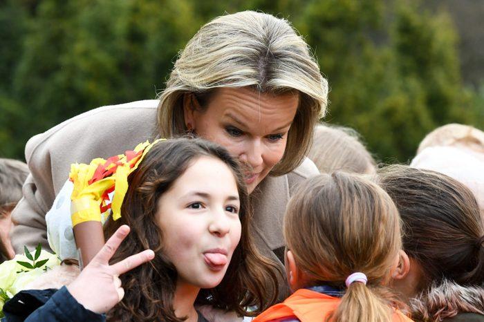 Queen Mathilde visits the World Children
