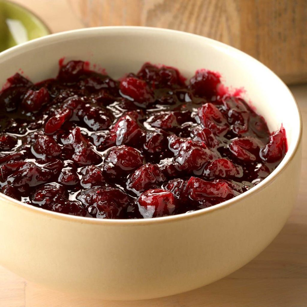 red iwne cranberry sauce