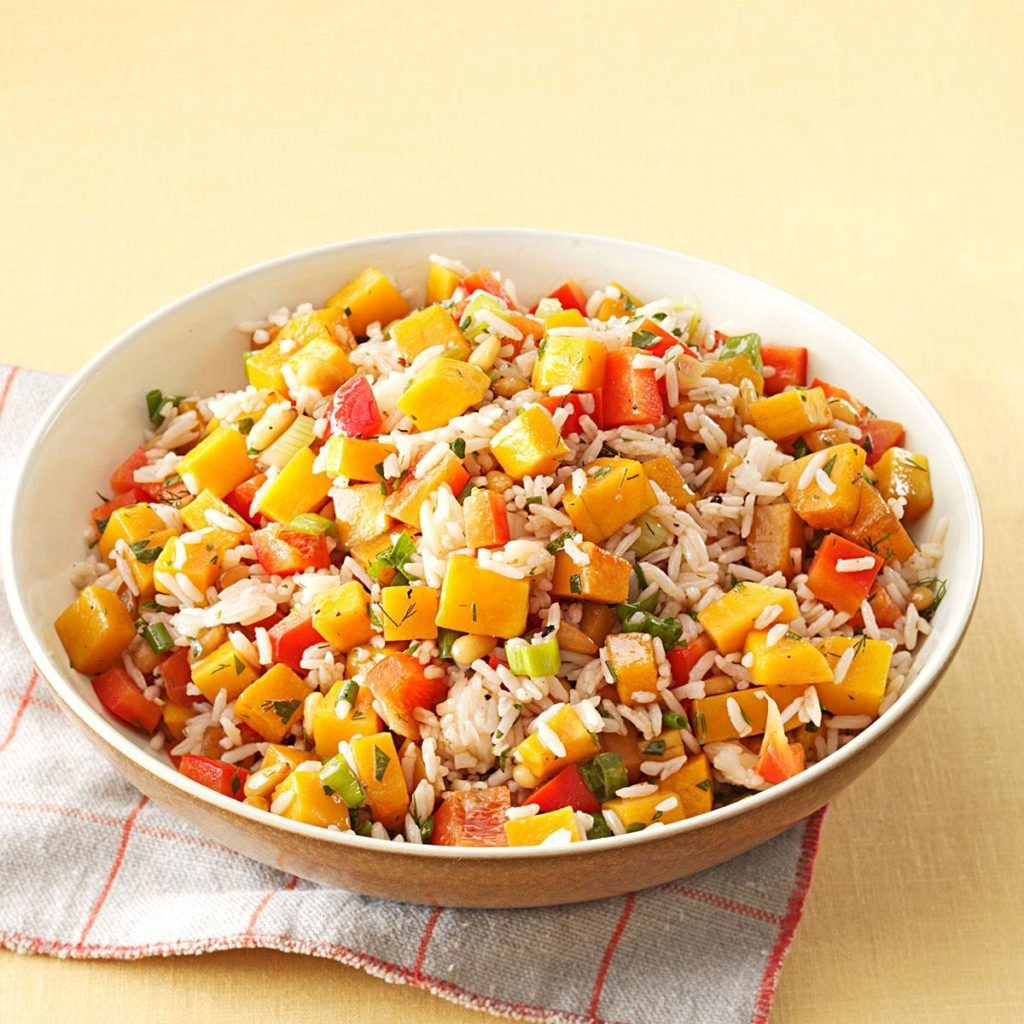 Roasted Butternut Squash Rice Salad