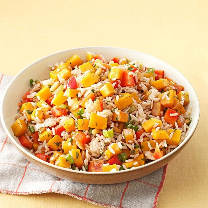 Roasted Butternut Squash Rice Salad
