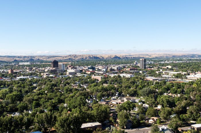 The skyline of Billings, Montana.