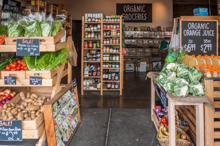 small organic market