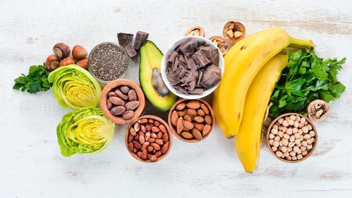 Foods containing natural magnesium.