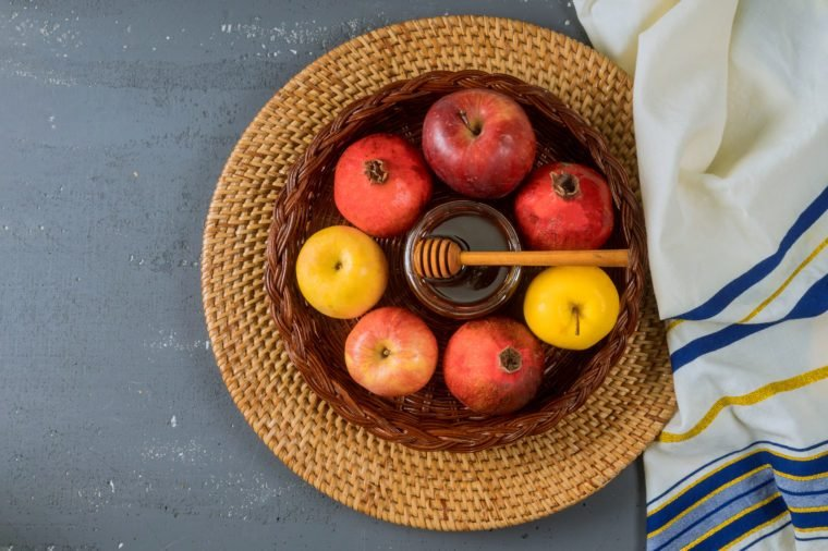 Jewish Holiday Rosh hashanah jewish New Year holiday traditional symbols