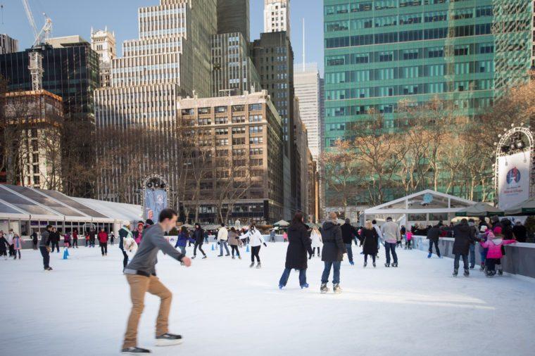 Ice skaters on Citi Pond