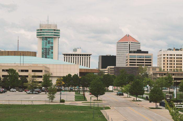 Wichita Kansas Skyline with Many Buildings