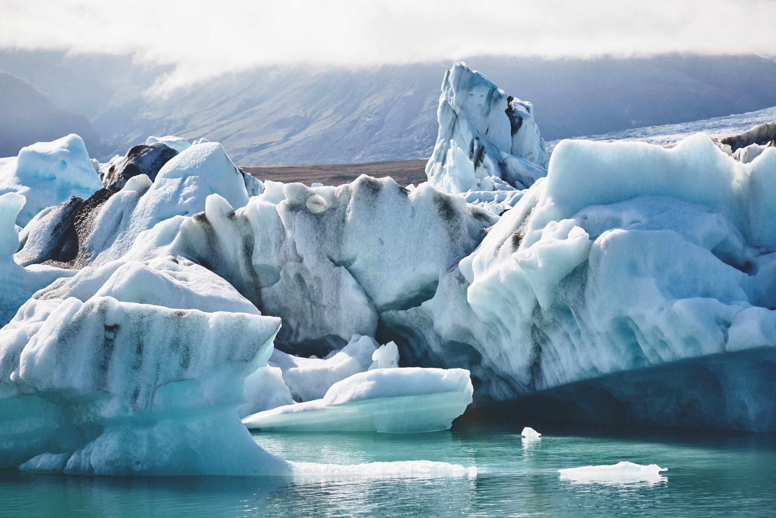Beautiful vibrant picture of icelandic