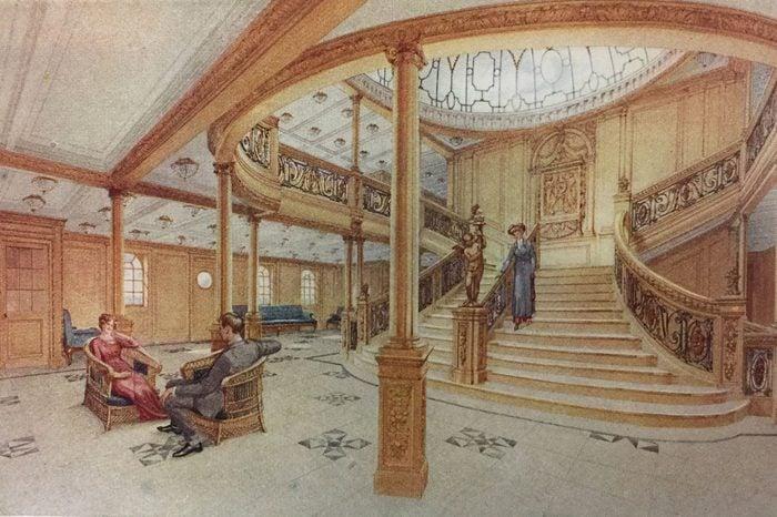 titanic main staircase