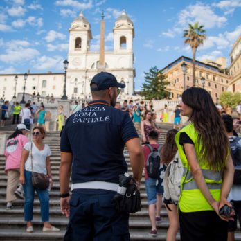 Tourists banned from sitting on the Spanish Steps