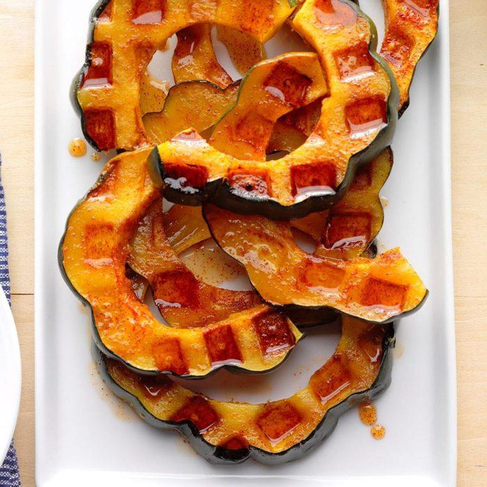 waffle iron acorn squash