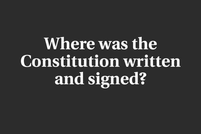 constitution trivia