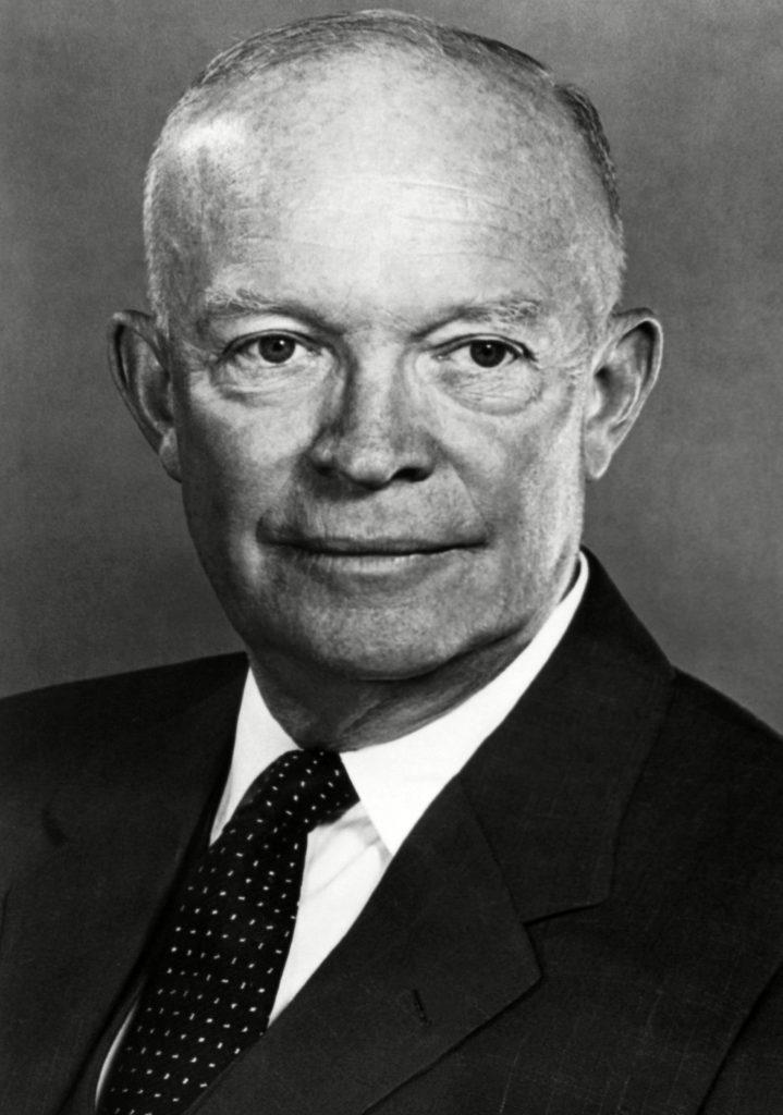 A portrait of President Dwight D. Eisenhower.