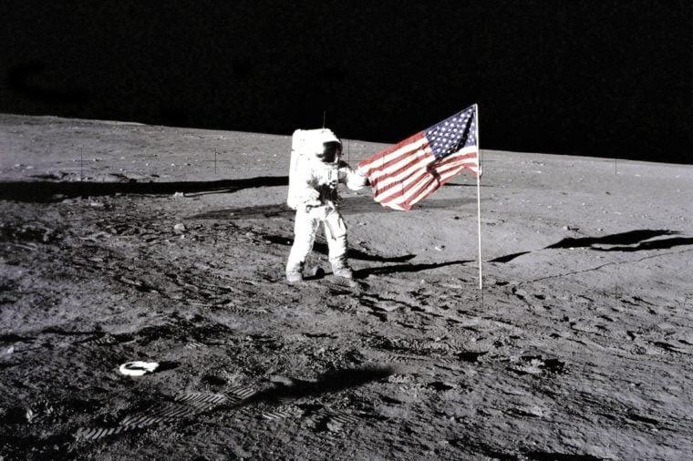 U.S. flag on the Moon
