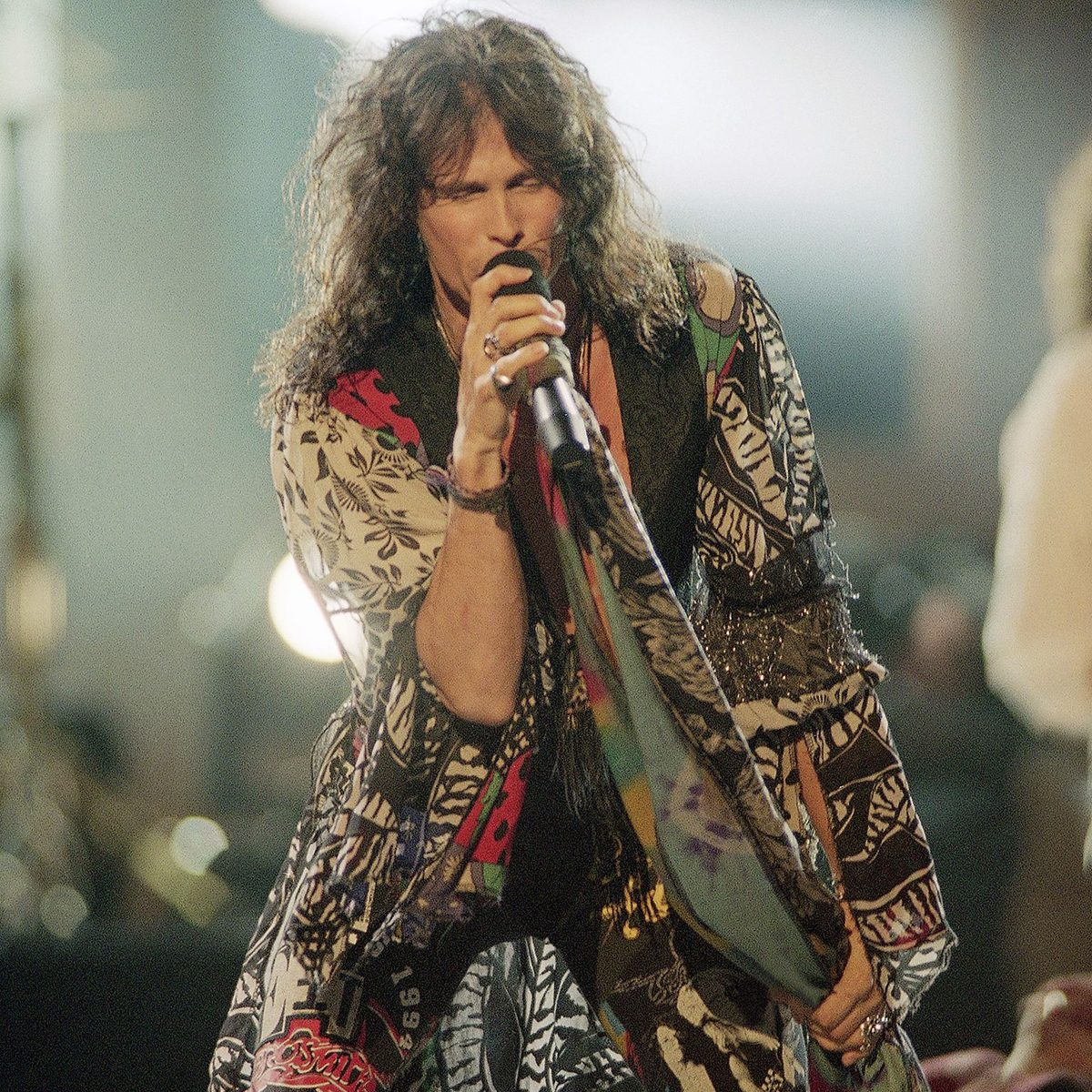 """Mandatory Credit: Photo by Bebeto Matthews/AP/Shutterstock (6528346a) Steven Tyler Steven Tyler of the band Aerosmith performs at the 1994 MTV Video Music Awards show at New York's Radio City Music Hall on . Aerosmith took home three awards for video of the year, best group video and viewer's choice award for """"Cryin Steven Tyler, New York, USA"""