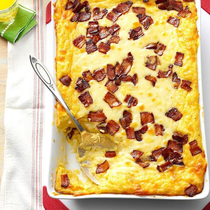 Alabama: Baked Two-Cheese & Bacon Grits
