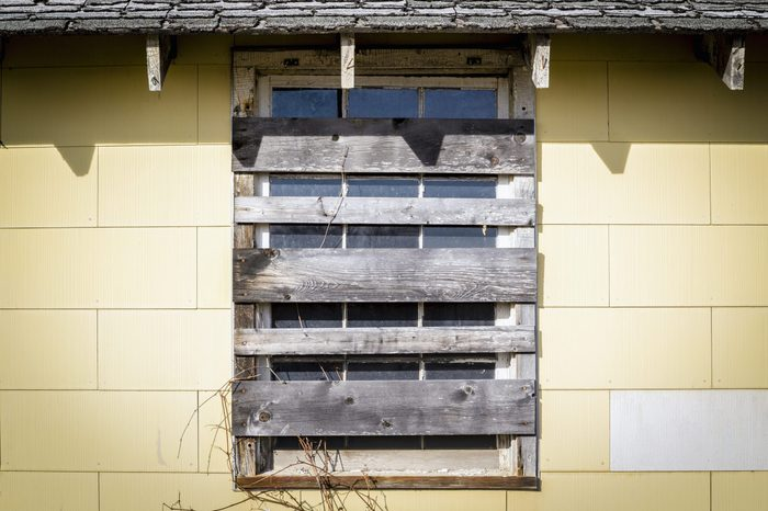 Boarded Up Window of an Abandoned Building (Savanna Army Depot, Illinois)