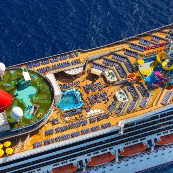carnival cruise ship aerial
