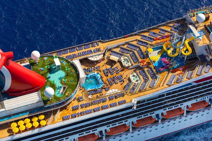 carnival cruise ship aerial