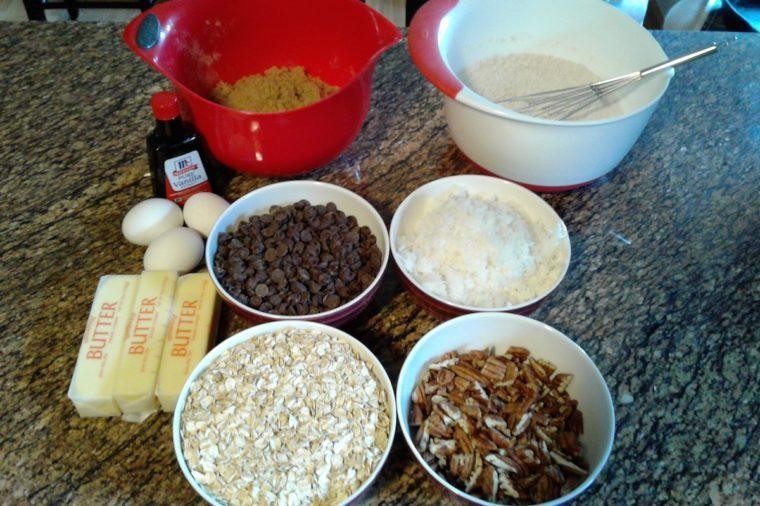 Ingredients for Cowboy Cookies