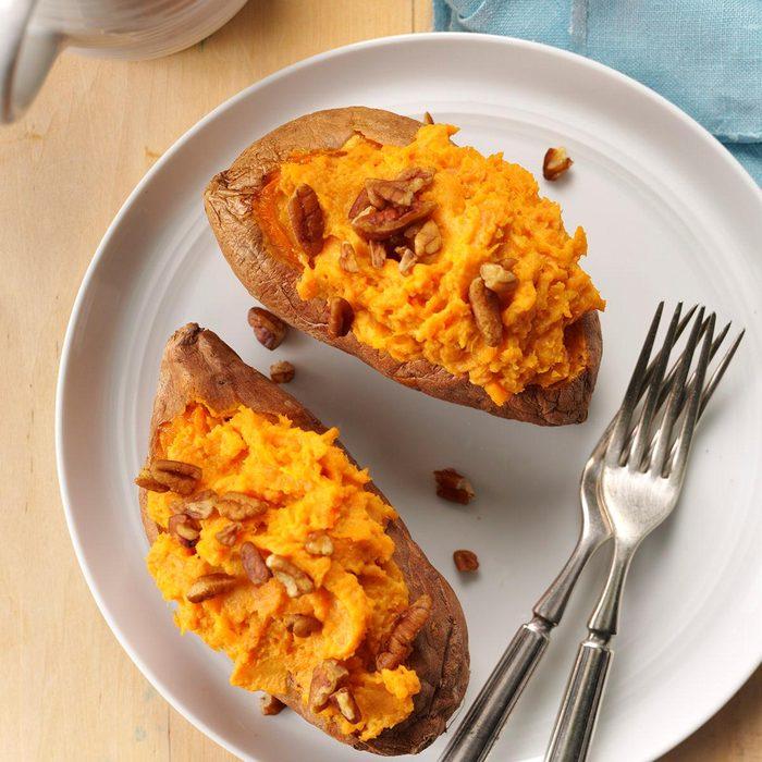 Creamy twice baked sweet potatoes