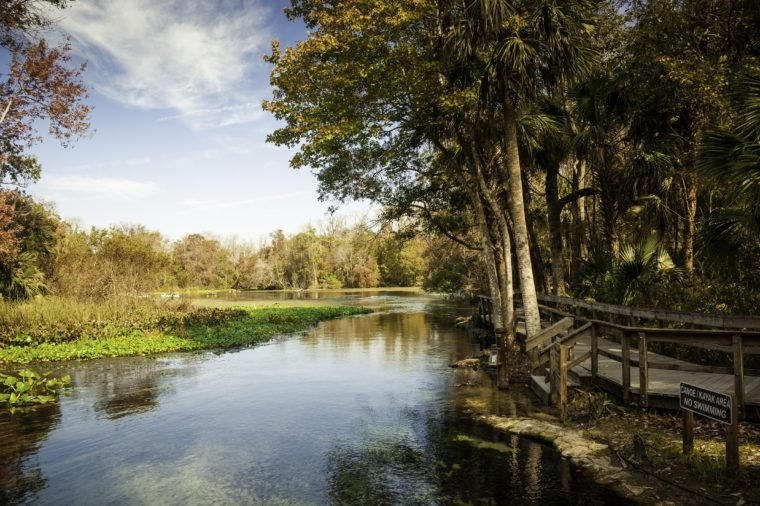Wekiva Springs in Florida in the Fall.