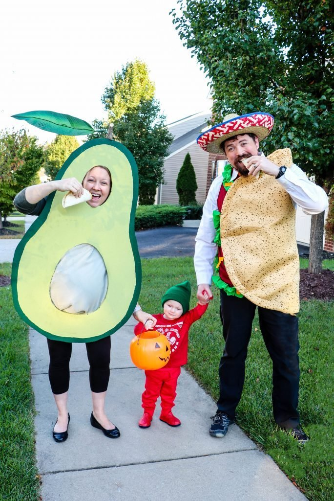 family halloween costume idea taco avocado fiesta