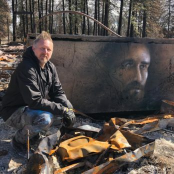 This Artist Painted the Burned Home of a Wildfire Victim—And Transformed a Community