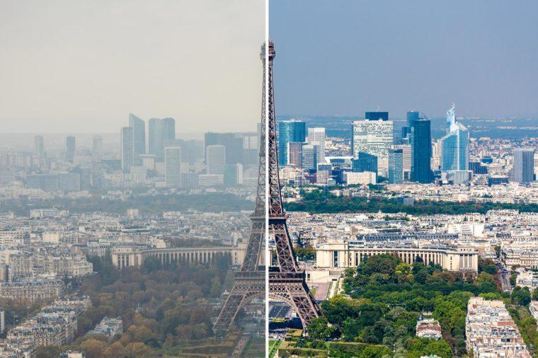 Paríž Francúzsko smog