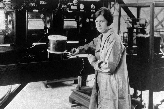 Pearl Young At Langleys Flight Instrumentation Facility; March 1929 Courtesy Nasa
