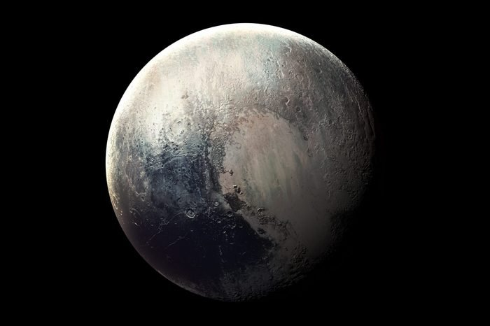 Pluto - High resolution 3D images presents planets of the solar system. This image elements furnished by NASA