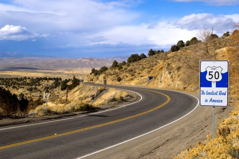 Route 50 - the loneliest road in America, Nevada