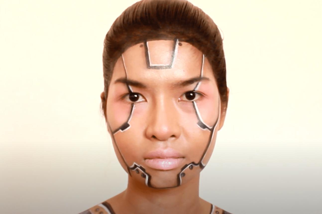 cyborg halloween makeup tutorial